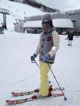 43degrees スノーボードウェア 苗場スキー場 スキーしているとき